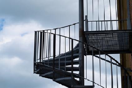 steel fire escape